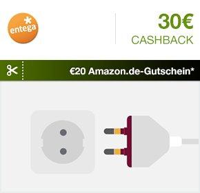 [Qipu] 30€ Cashback + 20€ AmazonGutschein beim Ökostromanbieter ENTEGA