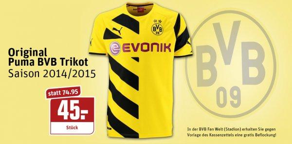 [lokal Dortmund] BVB Trikot 14/15 für 45€ bei REWE ab einem Einkauf von 30€ (+Gratisbeflockung)