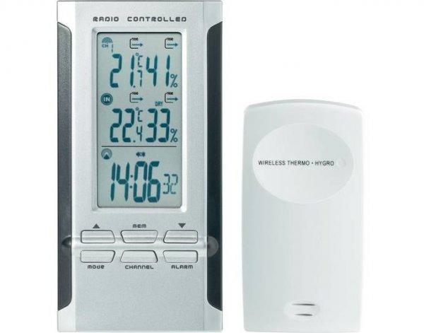 [Mein Paket] Conrad Thermo-/Hygrometer mit Funk-Uhr und Außensensor. Wetterstation