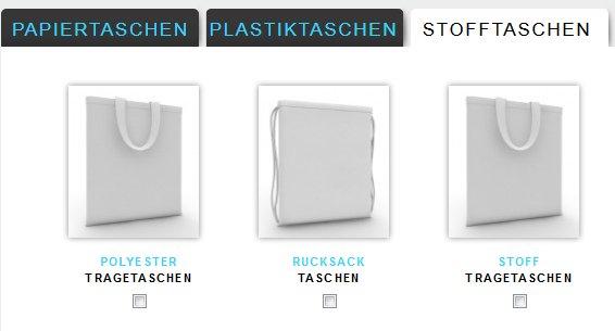 5 Tragetaschen gratis (Papier, Plastik oder Stoff)
