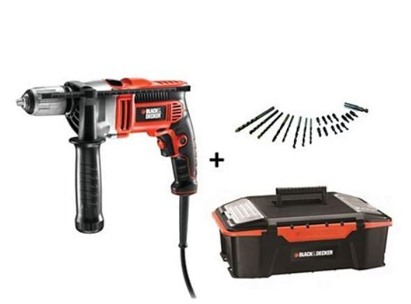 @plus.de  Black & Decker KR705K Schlagbohrmaschine mit Werkzeugbox und Zubehör  - 59,95 € Versandkostenfrei