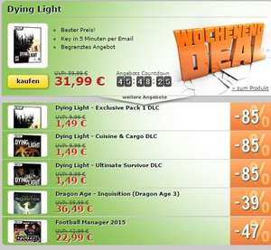 [ANKLICKBARE LINKS IN DER BESCHREIBUNG] Dying Light und viele DLCs, Dragon Age - Inquisition (Dragon Age 3), Football Manager 2015  - 31,99/1,49/ 36,49/22,99