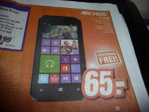 Archos 40 Cesium Windows Phone für 65 € (Lokal Expert Klein - Hanau, Mainaschaff uvm.)