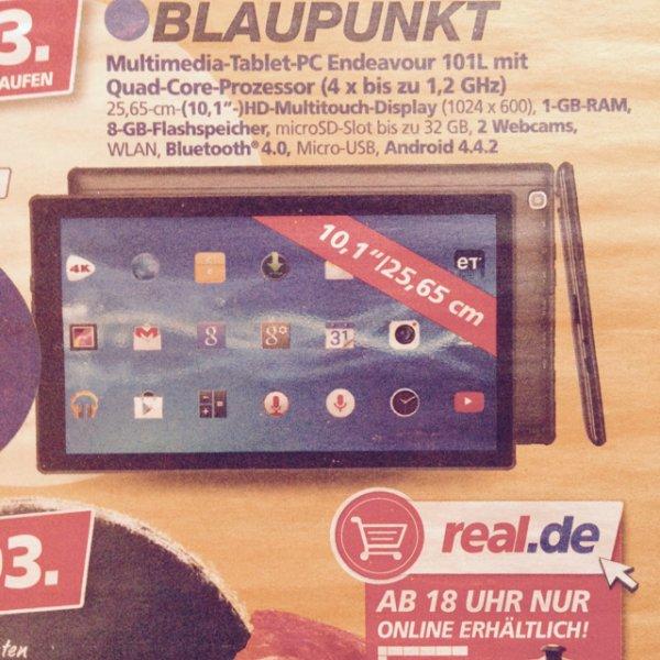 Blaupunkt Tablet Endeavour 101L - nur am 4.3. (online/ offline)
