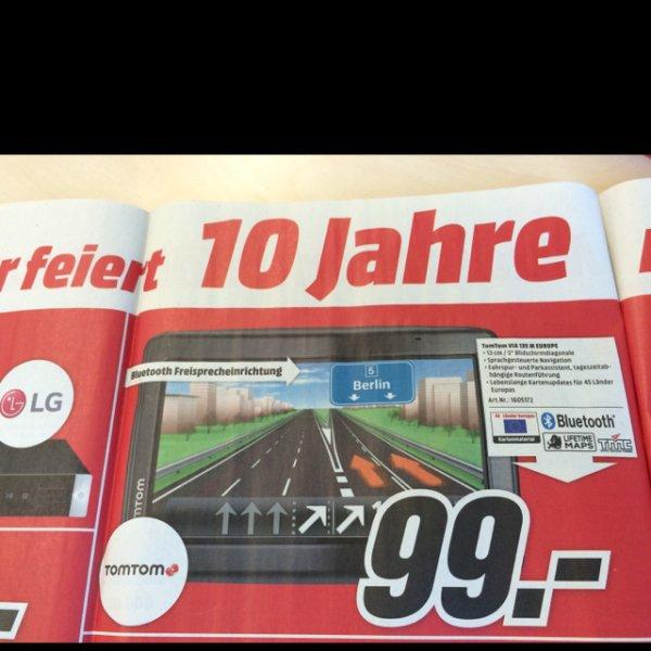 TomTom VIA 135 M Europa für 99,- !!! Ab 02.03. bei Media Markt Köln Kalk Arcaden