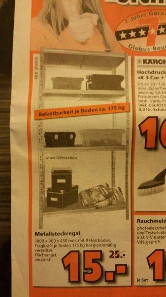 Bundesweit Globus Schwerlastregal 175kg/Boden für 15€