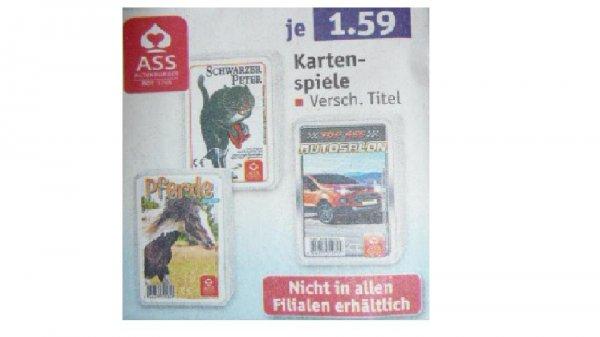 (Lokal) ASS Kartenspiele Schwarzer Peter / Quartett Pferde oder Autosalon und weitere bei Rossmann