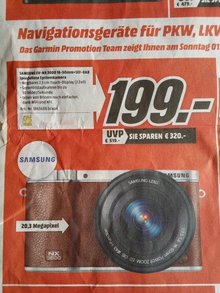 [MM Heilbronn] Nx3000 (braun) mit 16-50mm und Aufsteckblitz (Heute 13-18 Uhr)