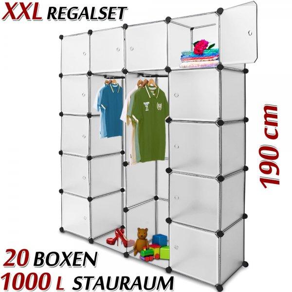 Steckregalsystem mit 20 Boxen und Türen eBay WOW