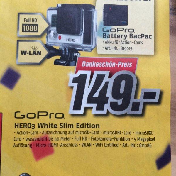 [Lokal] GoPro Hero 3 White + Battery BacPac @MediMax Dallgow