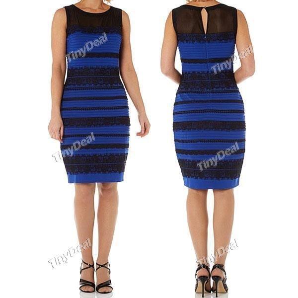 Das berühmte blau-schwarz bzw. gold-weiße Kleid für 26.64