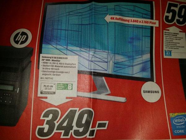 Media Markt Köln Kalk: Samsung U28D590D LED 4K Monitor für 349