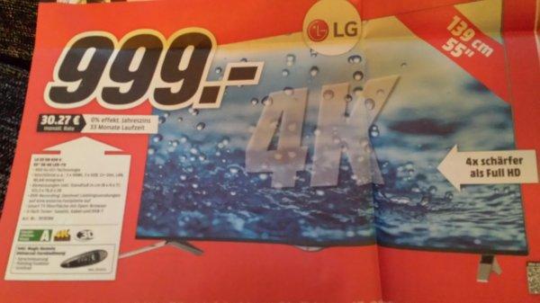 Lg LG55UB836 V für 999€ @ Media Markt Aachen