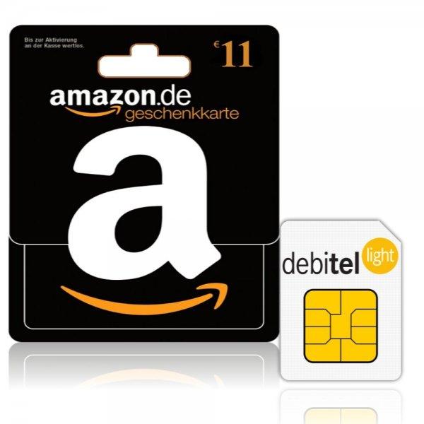 Debitel Light mit 10€ Guthaben + 11€ Amazon