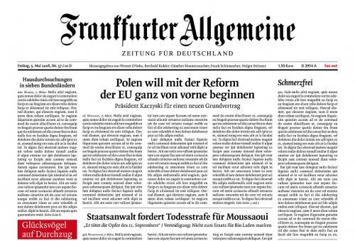 Möglicherweise nur für Studenten - 1 Jahr lang die F.A.Z. + Sonntagsanzeiger gratis 562,- € gespart