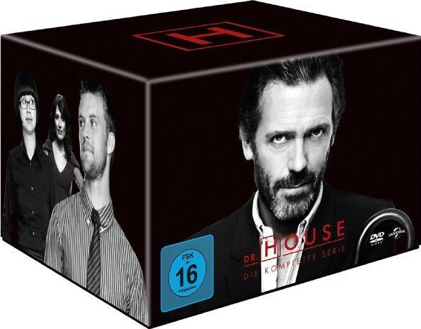 [Amazon] Dr. House - Die komplette Serie, Staffel 1 bis 8 (46 Discs) 49.97€