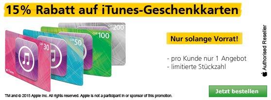 [SCHWEIZ] 15% auf iTunes-Karten bei postshop.ch