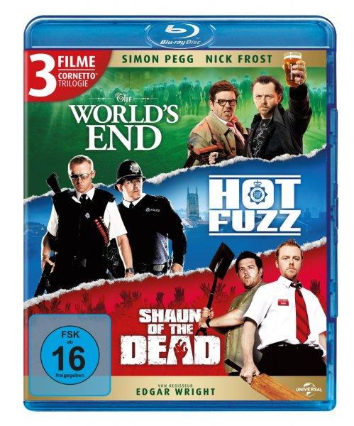 Amazon: Cornetto Trilogy (Blu-Ray) The World's End + Hot Fuzz + Shaun of the Dead
