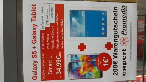 Samsung Galaxy S5 + Tab + 200€ Einkaufsgutschein!!!