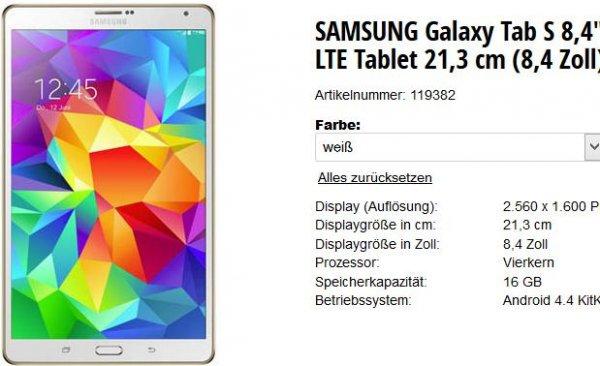 Samsung Galaxy Tab S 8.4 LTE [büroshop]