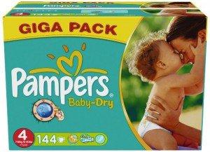 [METRO] Pampers Baby Dry & Active Fit *Giga Pack* / div. Größen / nur am 07.03.2015 - 24,74€