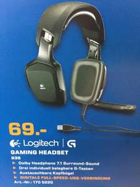 (Lokal) Saturn Berlin & Potsdam Logitech G35 7.1 Headset (PC & PS4) für 69€ im Gaming Flyer März 2015