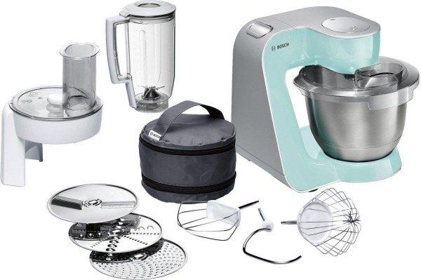 [Amazon Spanien] Bosch MUM54020 Küchenmaschine Styline MUM5 (900 Watt) mint turquois / silber für 126,18€ inkl. Versand