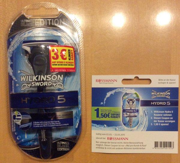 [offline] Wilkinson Hydro 5 für 0,49€@ Rossmann