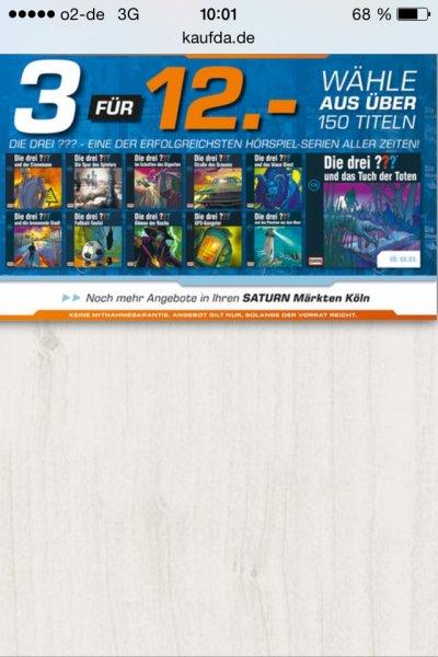 (Saturn) (Köln) (CD) Die drei Fragezeichen - 3 Episoden für 12€