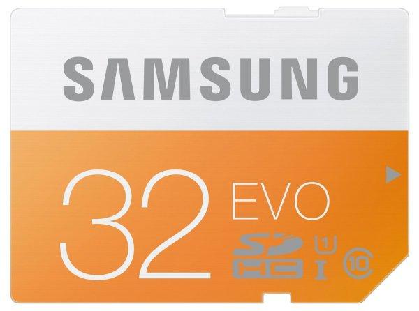 Samsung  Memory EVO 32GB Class 10 UHS-I (MB-MP32D/EU) für 12,- EUR