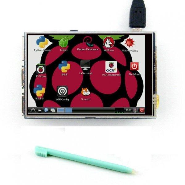 eBay 3.5 inch Raspberry Pi Touchscreen für B / B+ / 2 Versand aus DE