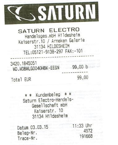 [Lokal?][Saturn Hildesheim] Western Digital Elements Desktop, 4 TByte für 99€ - Externe 3,5 Zoll USB 3.0 Festplatte