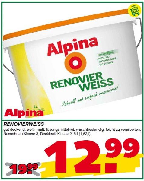 [Leitermann] Alpina Renovierweiss 8L / 1,62€ pro Liter bei Abholung, Onlineshop +VK