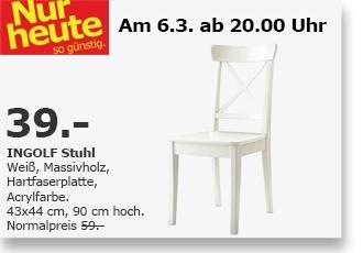 [LOKAL IKEA Kamen, 06.03, Late Night Shopping] Ingolf Stuhl weiss, 39 EUR statt 59 EUR
