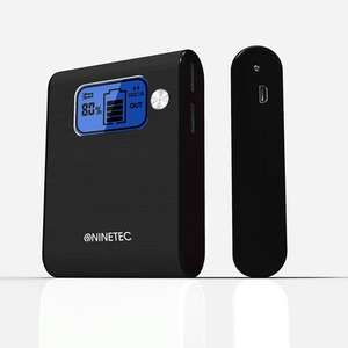 NINETEC 10.000mAh Power Bank Mobiler Akku für Smartphones Tablets  WOW