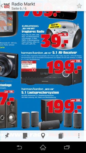 *Lokal Gelsenkirchen Radiomarkt* Harman Kardon AVR 151 -5% Rabatt möglich + eventuell noch Spritkosten