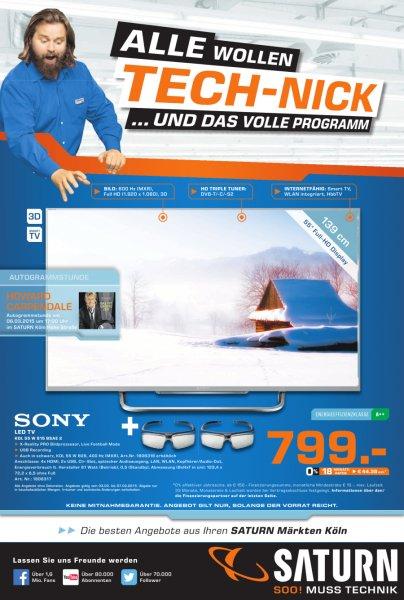 Sony KDL 55W815B (evtl. auch 55W805B) für 799€ im Saturn Köln Hansaring