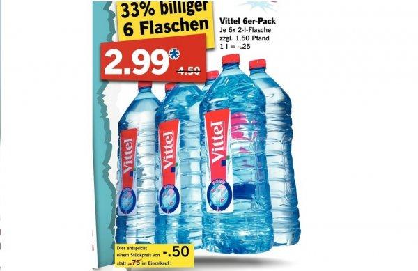 Vittel 6er-Pack 2 Liter - 2,99€ zzgl. Pfand @Lidl