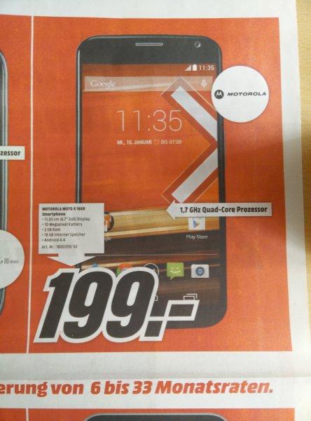 Motorola Moto X, 16GB schwarz [Mediamarkt]