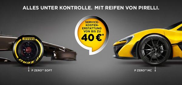 Pirelli Sommeraktion 2015 bis zu 40€ Cashback für Serviceleistungen rund ums Rad