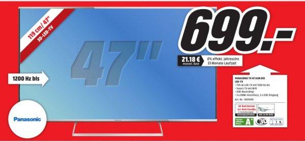[Lokal MediaMarkt Porta Westfalica] Panasonic TX 47 ASM 655, 119 cm (47´´),3D Full HD LED TV,Triple Tuner für 699,-€