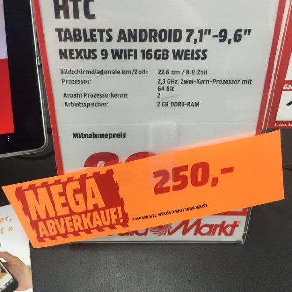 [Lokal Rostock] Nexus 9 16gb  Wifi weiß 250€