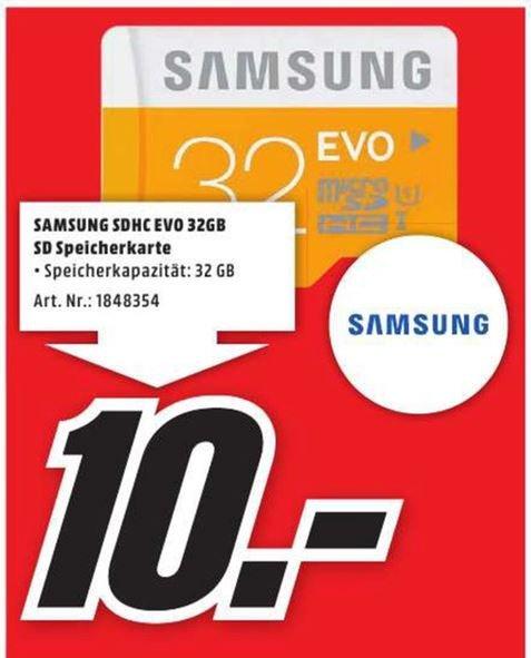 [Lokal MM Deggendorf] Samsung Evo microSDHC 32GB 10€