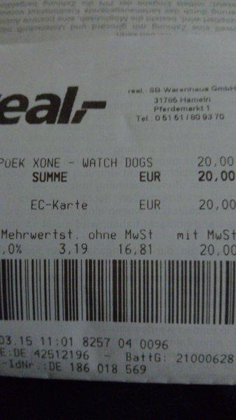 [lokal] real,- Hameln. Watch Dogs (Xbox One) für 20€