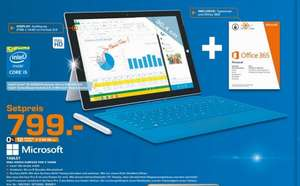 [lokal Saturn Osnabrück] Surface Pro 3 i5 128GB + Type Cover + Office 365 (1y) für 799€