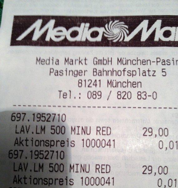 [LOKAL München MM ]  LAVAZZA A Modo Mio MINU LM 500 RED 29.-€