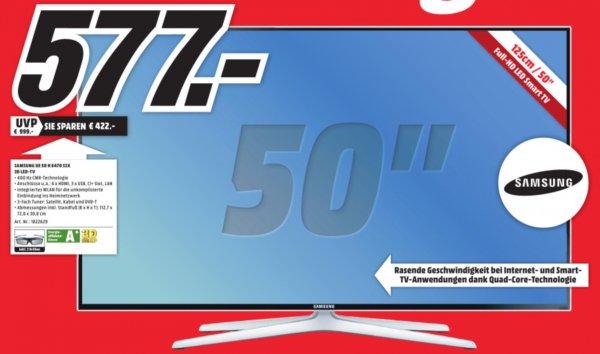 [MM Ulm - lokal] Samsung UE-50H6470 SSX 3D LED Fernseher für 577,00 € (idealo: 684,90 €)