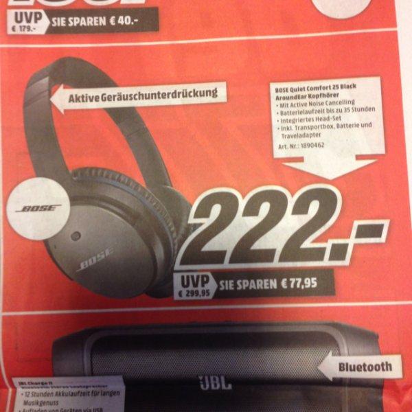 Bose QC25 222€ [Lokal Mediamarkt Ulm/Neu Ulm]