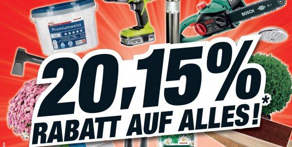 ( Lokal Bad Salzuflen ) Toom Baumarkt 20,15 % Rabatt auf ALLES vom 09. bis 14.03.