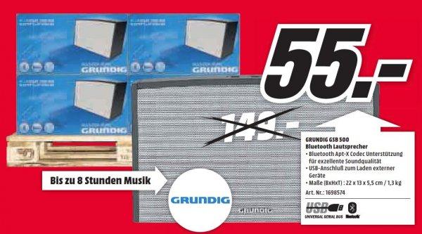 (MM LOKAL HH) Grundig GSB 500 Bluetooth Lautsprecher für 55€; Idealo 93€